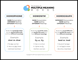 teaching multiple meaning words do