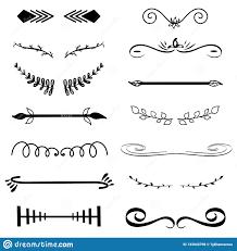 Classic Sticker Design Vector Decorative Monograms And Calligraphic Borders