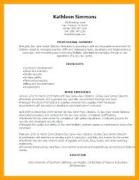 Day Care Experience On Resume Sample Resume For Daycare Teacher Or Sample Resume For Daycare