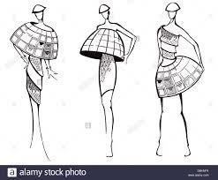Clothes Design Sketch Model Sketch Of Fashion Model Design Of Dresses Based On
