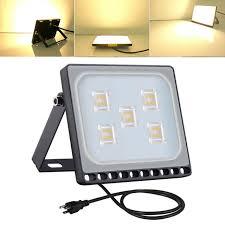 1x 30w us plug led flood light outdoor garden spotlight security lamp warm white