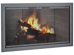 wood burning stove door glass seal superior fireplace doors