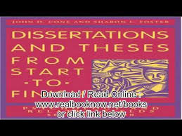 Dissertations And Theses from Start to Finish Psychology And