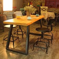 Industrial Style Metal Bar Stool Ajustable Height Swivel Kitchen