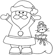 Small Picture Coloring Pages Kids Printable Santa Claus Coloring Pages Santa