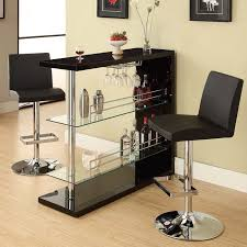 in home bar furniture. modren home bar table with two glass shelves in gloss black finish by coaster 100165 with in home furniture
