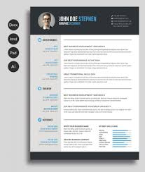 Free Microsoft Word Resume And Cv Template For Photoshop Psd