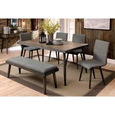 furniture of america bradensbrook mid century modern industrial style metal 64 inch dining table