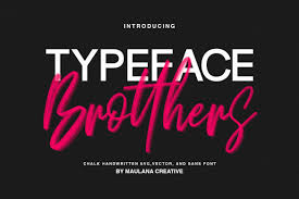 The table below shows all font awesome web application icons Brotthers Font By Maulana Creative Creative Fabrica Typography Quotes Brush Font Brush Fonts Free