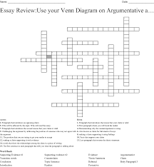 Transitional Words For Argumentative Essay Argumentative Writing Crossword Wordmint