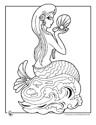 Coloring Pictures Of Mermaids Coloring Picture Hd For Kids Clip
