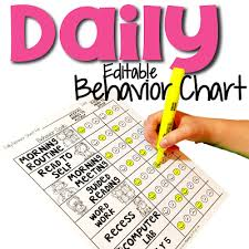 Individual Behavior Chart Individual Student Behavior Management Flipping For First