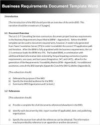10+ Business Requirements Document Outline | Global Strategic Sourcing