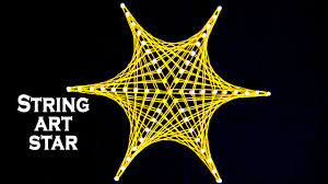 String Art Designs - How To Make Star Pattern from String Art by ...