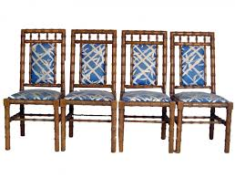 bamboo dining chairs. 4 Faux Bamboo Dining Chairs N