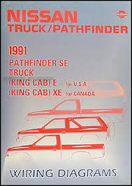 nissan truck and pathfinder wiring diagram manual original