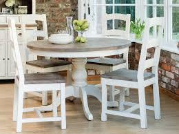 image of round kitchen table with leaf