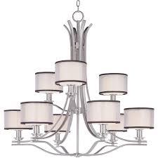 maxim lighting orion 9 light satin nickel chandelier