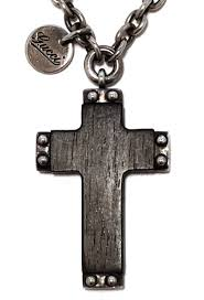 gucci ebony cross pendant necklace cross wooden men silver gucci 181417 wood ebony cross accessories