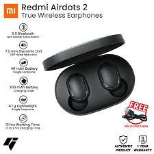 <b>Xiaomi Redmi AirDots 2</b> Wireless Bluetooth 5.0 Earbuds with Free ...