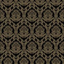 seamless black wall texture. Seamless Retro Wallpaper In Victorian Style: Gold On Black. Vinyl Wall Mural - Backgrounds Black Texture