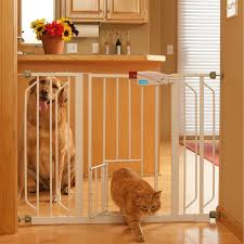 decorations cool metal freestanding portable pet gate design with wooden floor and beige wall decor