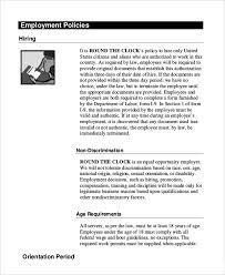 handbook template employee handbook template 12 free sample example format