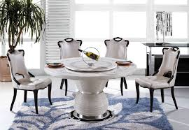 awesome crema round marble effect dining table with 4 reni dining intended for amazing round marble