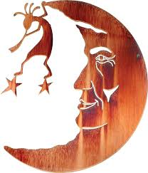 southwest metal wall art man in the moon southwest metal wall art