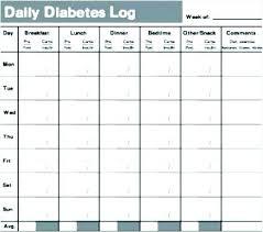 Diabetes Glucose Log Spreadsheet Best Free Online Templates For