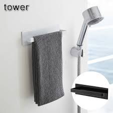Bath towel hanger Room Towel Magnet Bathroom Towel Hanger Tower all Two Colors Storing Article Bath Items Bath Storing Yamazaki Yamasaki Business Rakuten Beaup Magnet Bathroom Towel Hanger Tower all Two Colors Storing