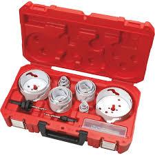 Milwaukee Hole Saw Size Chart Milwaukee Master Electricians Hole Dozer Hole Saw Kit 19 Pc Model 49 22 4105