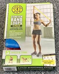 Stretch Band Loops Exercise Chart Elastic Resistance Loop Bands For Pilates Yoga Exercise Gym Workout Fitness 22643008373 Ebay