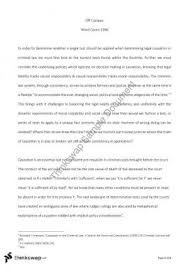 mll criminal law thinkswap causation in criminal law essay