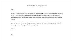 Thank You Letter To Boss For Giving Training Opportunity Juzdeco Com