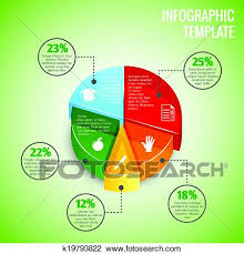 Pie Chart Education Infographic Clipart K19793822 Fotosearch