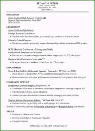 Unbelievable Resume Template For High School Students You