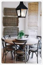 rustic round kitchen table. Baskets On Wall, Lantern, Round Table. Maybe More For B-fast Nook. Rustic Kitchen Table
