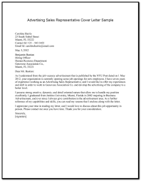 Sales Representative Cover Letter Experimental See Sample For