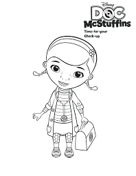 Doc Mcstuffins Coloring Pages To Print Doc Coloring Pages Picture