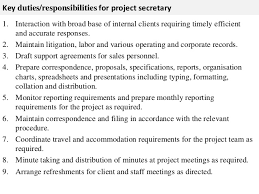 Secretary Job Description Resume 40 Secretary Job Description Extraordinary Secretary Duties Resume