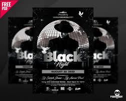 Club Flyers Address Download Black Night Club Flyer Psd Psddaddy Com