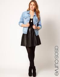 black faux leather skirt asos