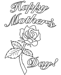 Mothers day cards rose flower. Print Happy Mothers Day Card For Coloring