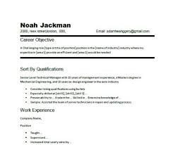 Career Statement Sample Example Of Objective Resume On A Resumes ...