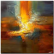 modern texture abstract art palette knife painting