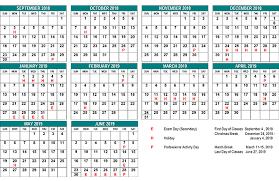 Year To Year Calendar School Year Calendar St Clair Cds Board