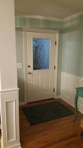 front door after photo of our diy decorative glass window housekaboodle