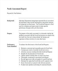 report formats in word needs assessment report template report formats samples com