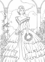 Victorian Woman Coloring Pages For Adults